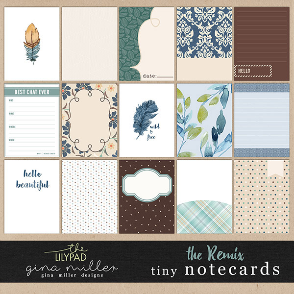 Gina Miller Designs Tiny Notecards